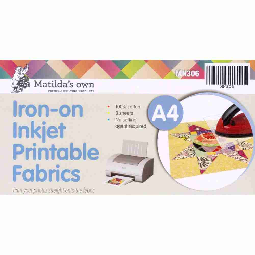 photo relating to Printable Fabric Paper named A4 IRON Upon PRINTABLE Material - 3 SHEETS